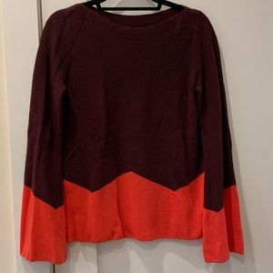 Ann Taylor Maroon and Pink Sweater